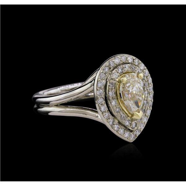 1.50 ctw Light Yellow Diamond Ring - 14KT Two-Tone Gold