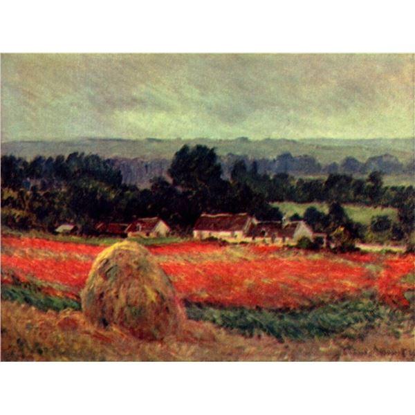 Claude Monet - The Poppy Blumenfeld (The Barn)