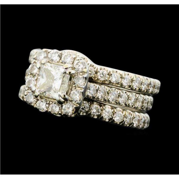 1.75 ctw Diamond Engagement Ring - 14KT White Gold