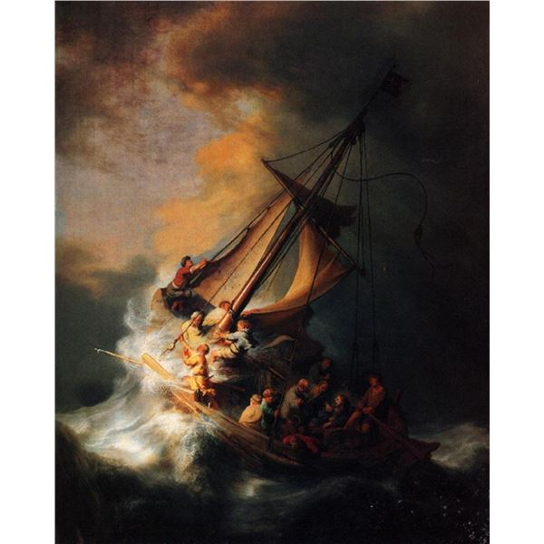 Rembrandt - Christ in the Storm on the Lake Genezareth