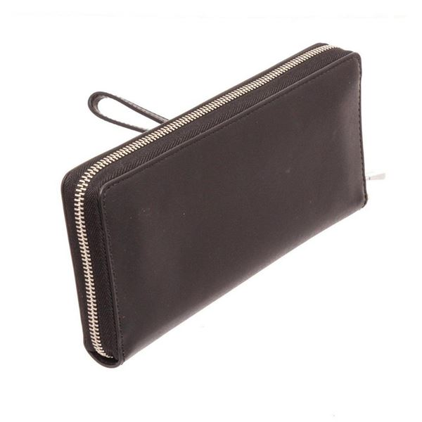 Michael Kors Black Leather Money Pieces Travel Continental Star Wallet