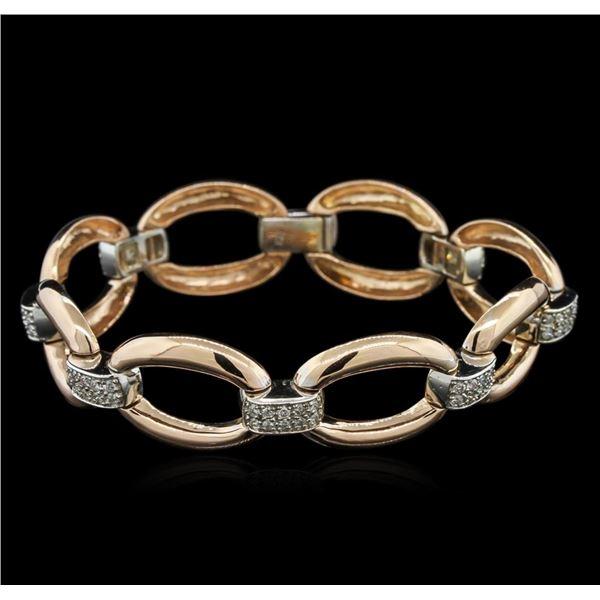 1.00 ctw Diamond Bracelet - 14KT Two-Tone Gold