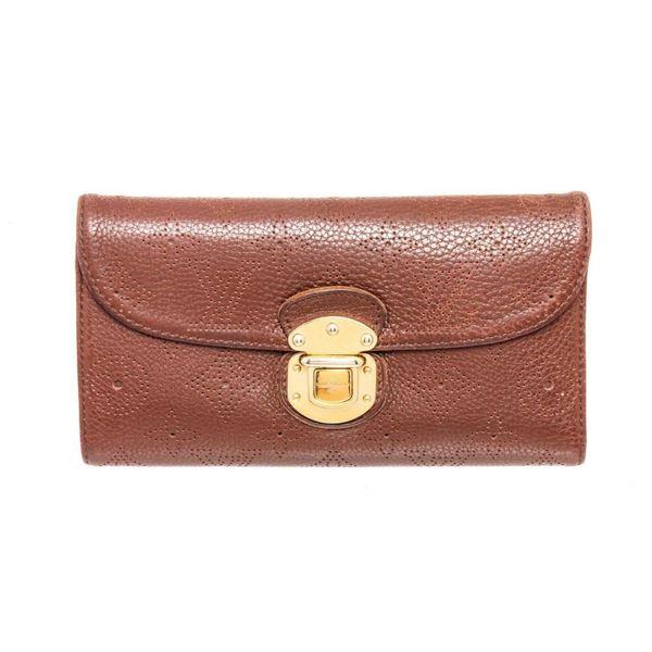 Louis Vuitton Brown Mahina Monogram Leather Amelia Wallet
