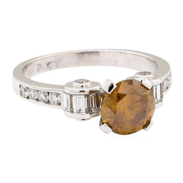2.27 ctw Round Brilliant Cut Diamond And Baguette Cut Diamond Ring - 18KT White