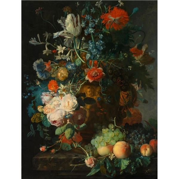 Jan van Huysum - Still Life with Flowers and Fruit