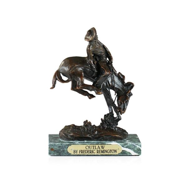 Outlaw Bronze Replica By Frederic Remington
