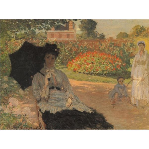 Claude Monet - Camille in the Garden with Jean and His Nanny