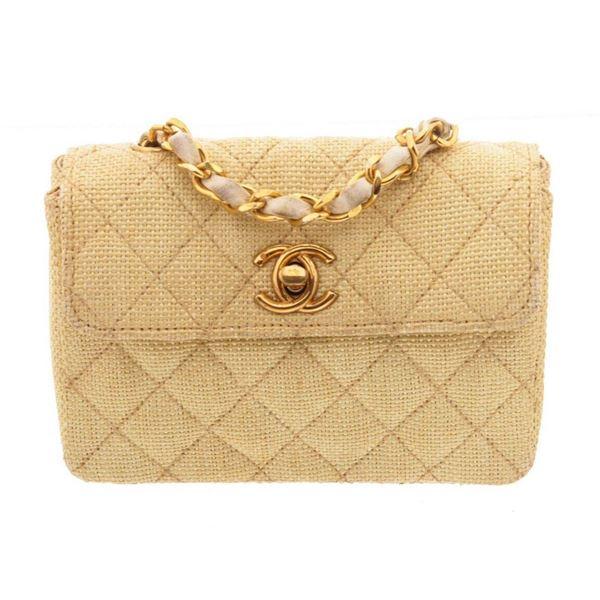 Chanel Gold Mini Flap Shoulder Bags