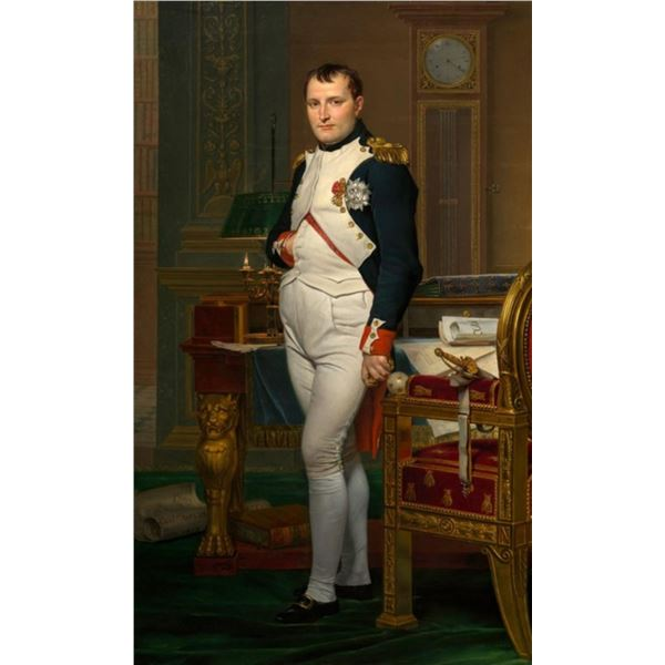 Jacques-Louis David - The Emperor Napoleon in his Study at the Tuileries
