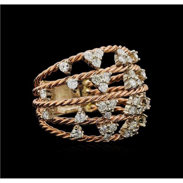 14KT Rose Gold 1.00 ctw Diamond Ring