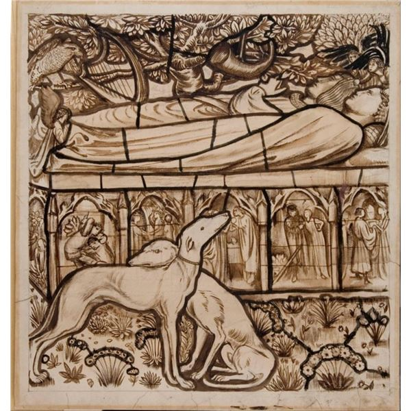 Edward Burne-Jones - The Tomb of Tristan and Isolde