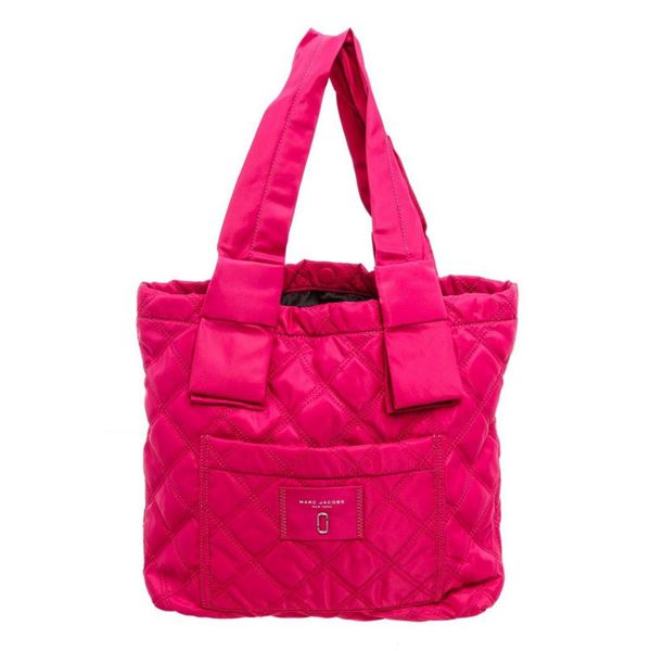 Marc Jacobs Pink Quilted Nylon Knot Tote Bag