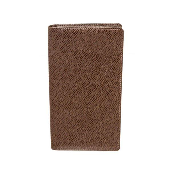 Louis Vuitton Brown Taiga Leather Long Card Wallet