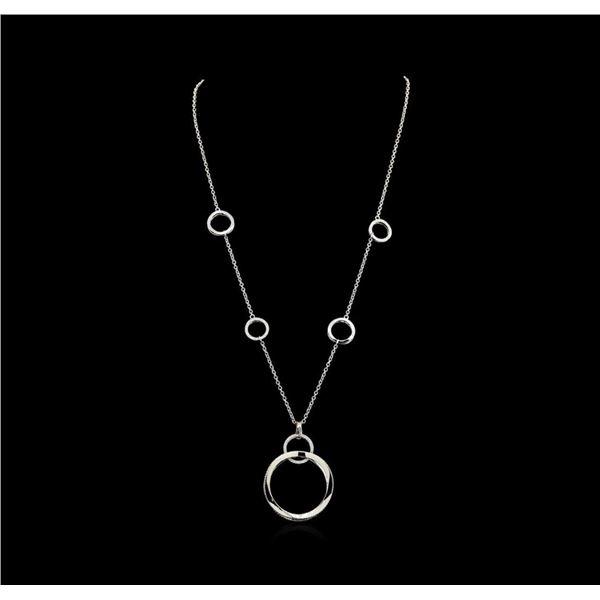 1.01 ctw Diamond Necklace - 14KT White Gold