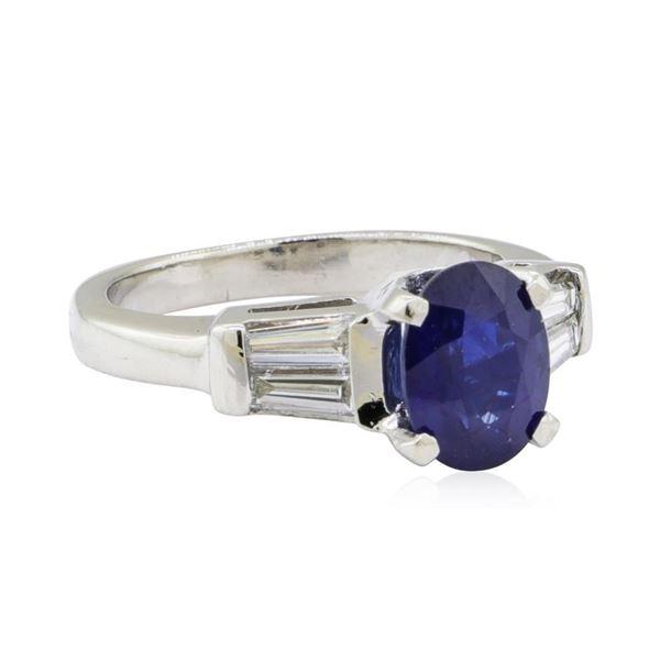 2.16 ctw Sapphire and Diamond Ring - Platinum