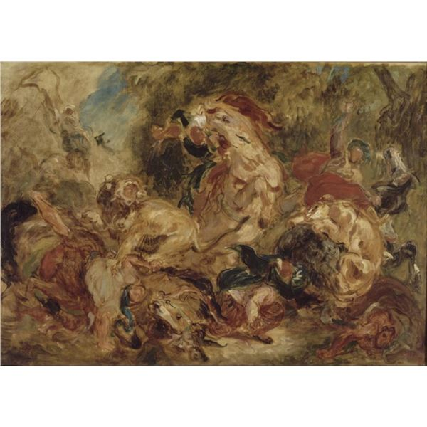 Eug�ne Delacroix - The Lion Hunt