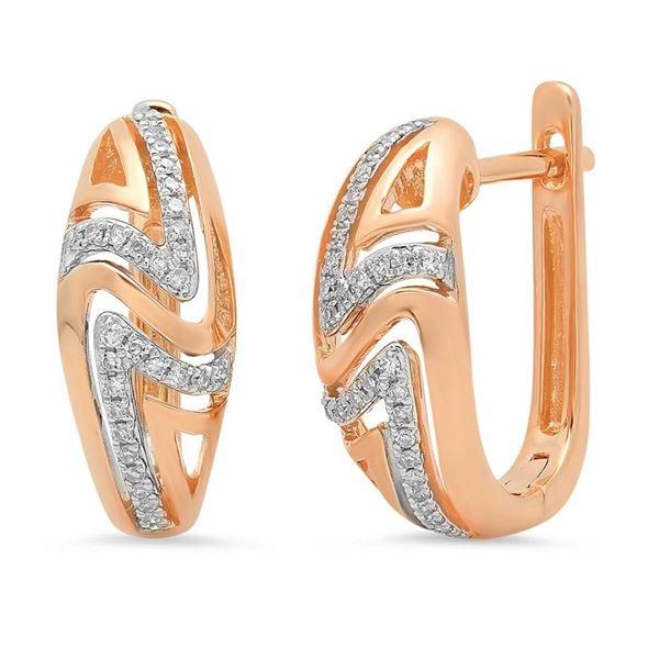 14k Gold 0.14CTW Diamond Earrings, (I1)