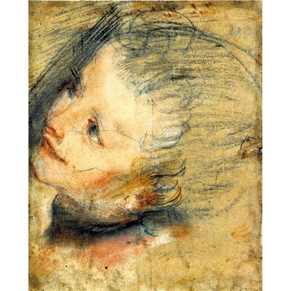 Federico Barocci - Study for the head of Jesus Chris