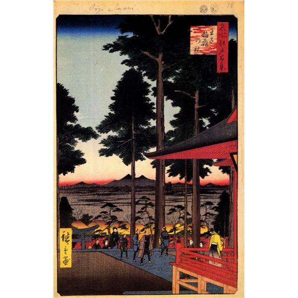 Hiroshige  - Oji Inari Shrine