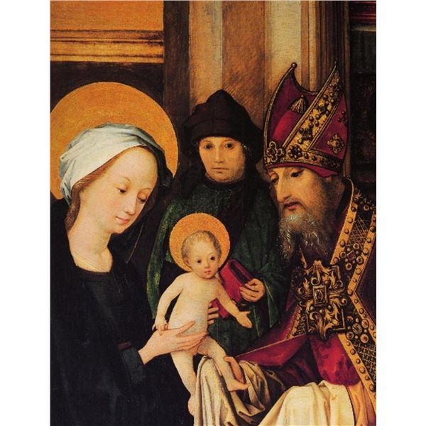 Hans Holbein - Maria and Archpriest with the Christ