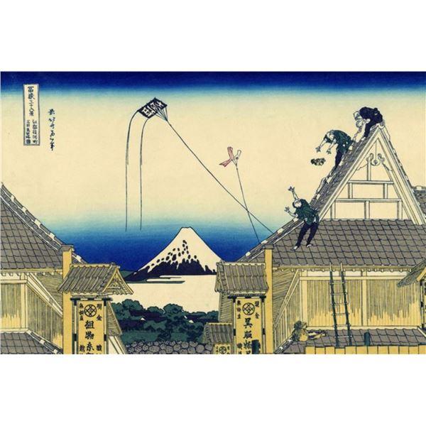 Hokusai - A Sketch of the Mitsui Shop