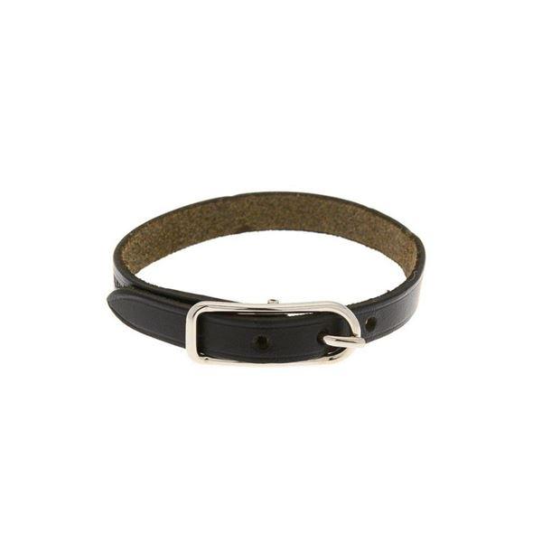Hermes Black Leather 1 Bracelet