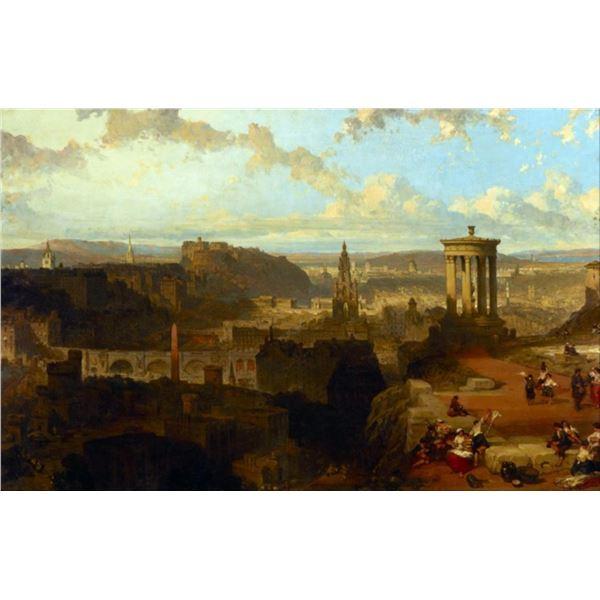 David Roberts - Edinburgh from the Calton Hill