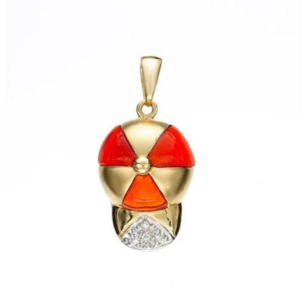 14k Yellow Gold 0.02CTW Diamond Pendant, (SI3/H)