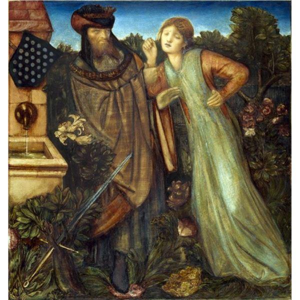 Edward Burne-Jones - King Mark and La Belle Iseult