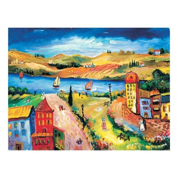 """Oleg Nikulov, """"River View"""" Hand Signed Limited Edition Giclee on Canvas with Let"""