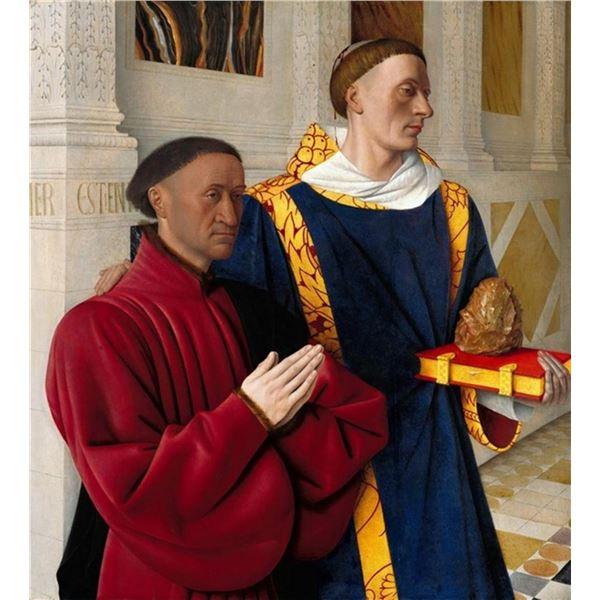 Jean Fouquet - Etienne Chevalier with St. Stephen