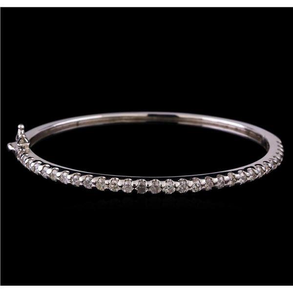 14KT White Gold 1.93 ctw Diamond Bangle Bracelet
