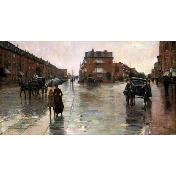 Childe Hassam - Rainy Day in Boston