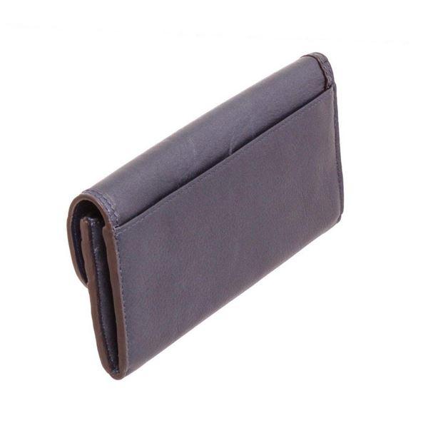 Coach Purple Crossgrain Leather Wallet