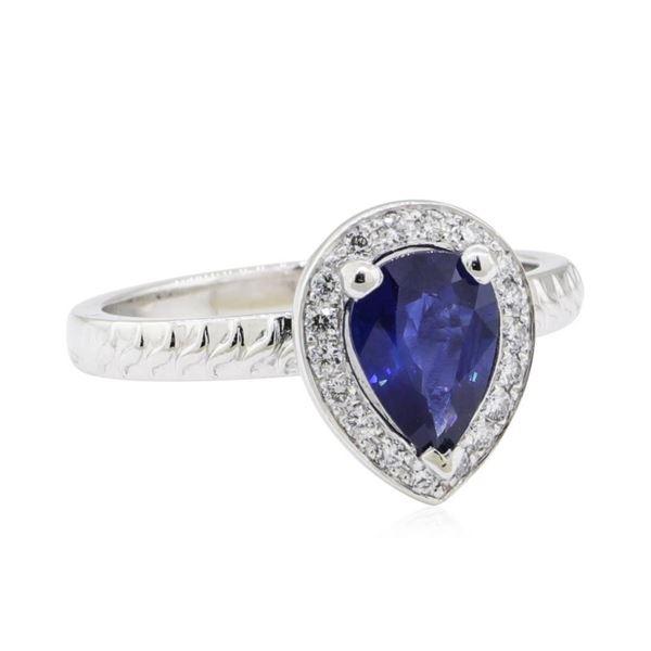 1.16 ctw Sapphire and Diamond Ring - Platinum