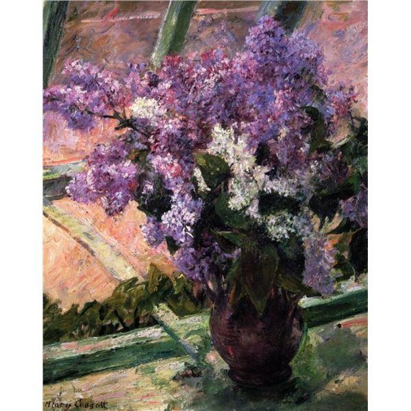Mary Cassatt - Lilacs In A Window 1880