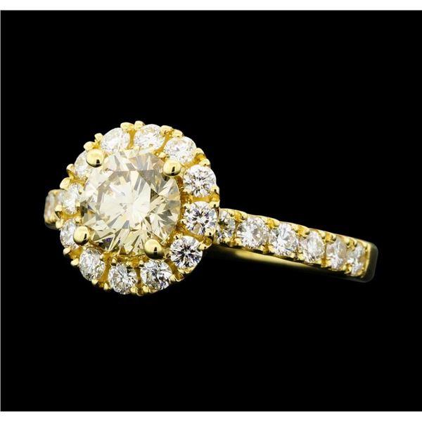 1.66 ctw Diamond Ring - 14KT Yellow Gold