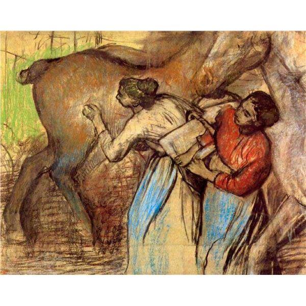 Edgar Degas - Two Women Washing Horses