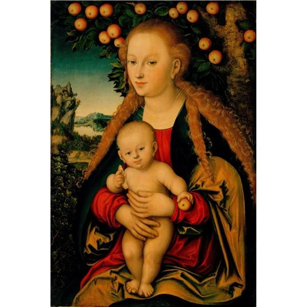 Lucas Cranach - The Virgin and Child Under an Apple Tree