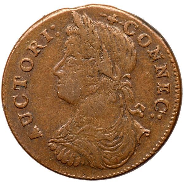 1787 Connecticut Miller 17-g.3 R4- DBL VF30