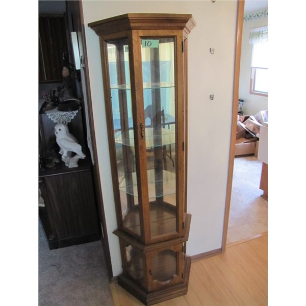 small display cabinet 25 inches wide x 71 inches tall