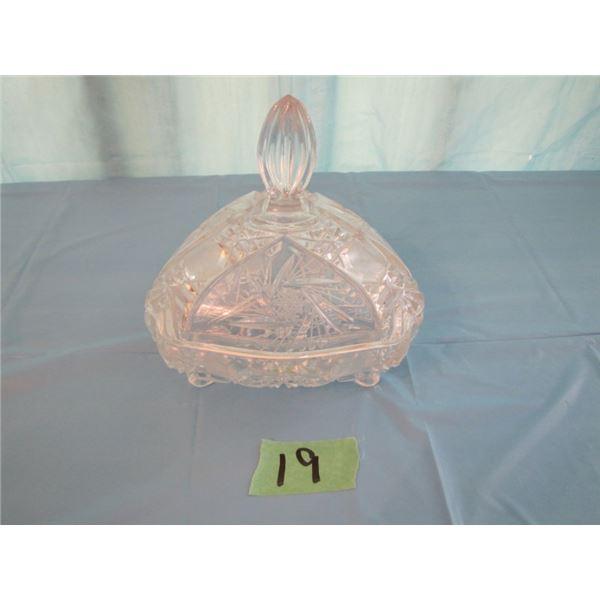 pinwheel Crystal covered dish
