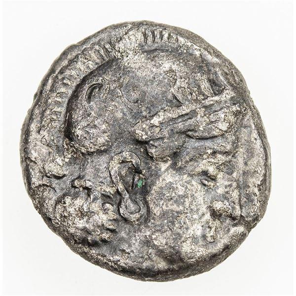 GREEK: BACTRIA: Athenian series, ca. 260-240 BC, AR hemidrachm (1.66g). F