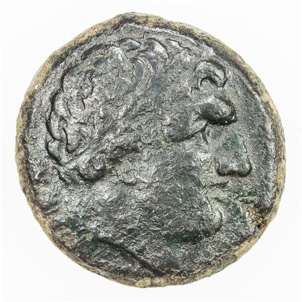 GREEK: SYRACUSE: Agathokles, 317-289 BC, AE litra (8.91g), ca. 308-307 BC. VF