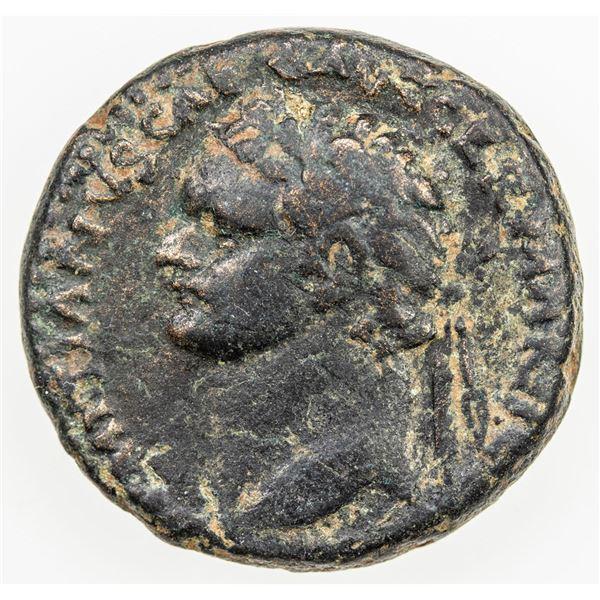 ROMAN EMPIRE: Domitian, 81-96 AD, AE22 (11g), Caesarea Maritima. VF