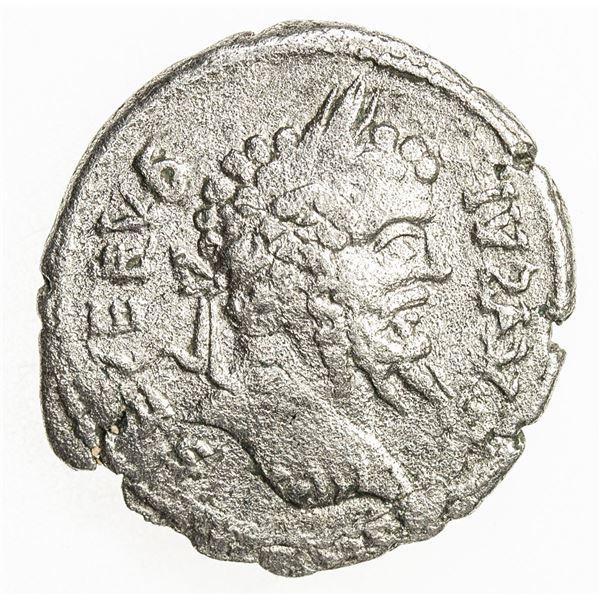 ROMAN EMPIRE: Septimius Severus, 193-211 AD, AR denarius (2.76g). F-VF