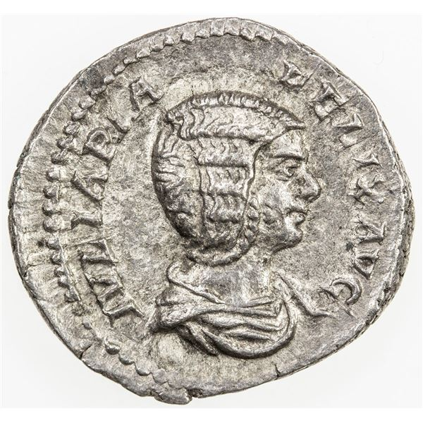 ROMAN EMPIRE: Julia Domna, augusta, AR denarius (2.95g), Rome, 211-217. VF