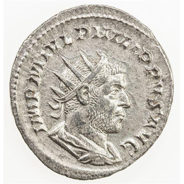 "ROMAN EMPIRE: Philip I ""the Arab"", 244-249, AR antoninianus (3.57g), Rome, 244-247. EF"