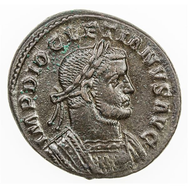 ROMAN EMPIRE: Diocletian, 285-305, AE follis (9.30g), Treveri (Trier), ca. 298-299. VF-EF