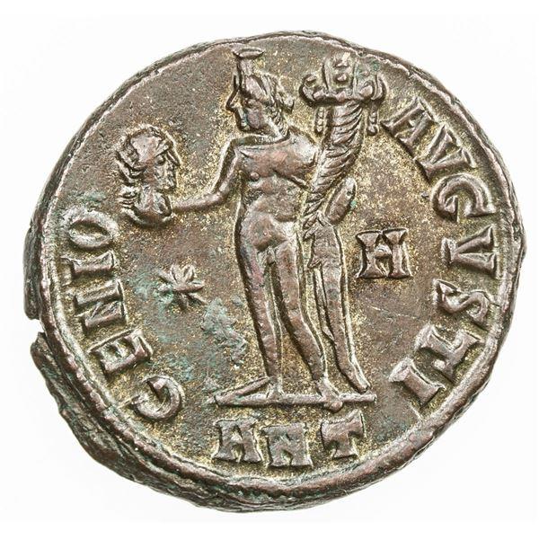 ROMAN EMPIRE: Maximinus II Daia, as augustus, 310-313, AE follis (4.74g), Antioch, 312. EF